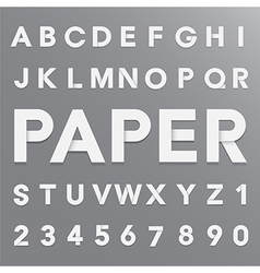 White paper alphabet with shadow EPS10 vector image vector image