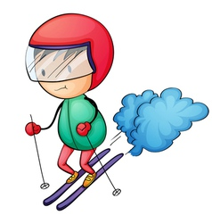 ski boy vector image