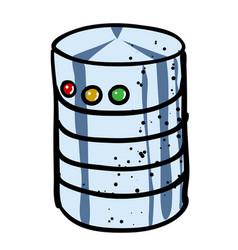 cartoon image of database icon vector image