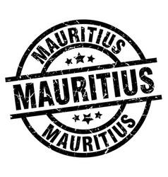 Mauritius black round grunge stamp vector