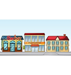 Shops on street vector image