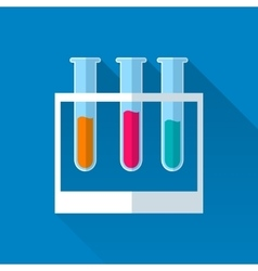 3 tubes with colored liquids vector image
