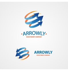 Logo design element arrow scope circle vector