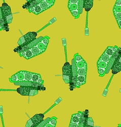 Tank seamless pattern 23 february vector