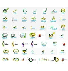 Large corporate company logo collection universal vector