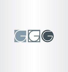 Letter g icons set elements design vector
