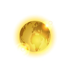 golden world vector image