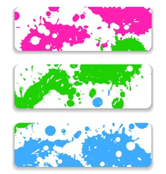 Ink splash banner set vector