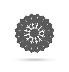 Snowflake artistic sign icon air conditioning vector