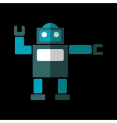 Robot flat icon vector