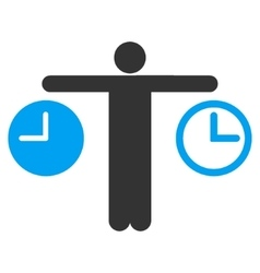 Compare time icon vector