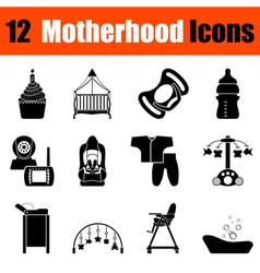 Set of motherhood icons vector