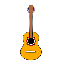 Acoustic guitar icon cartoon vector