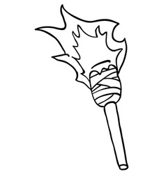 black and white torch vector image vector image