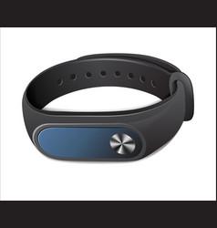 black fitness bracelet vector image