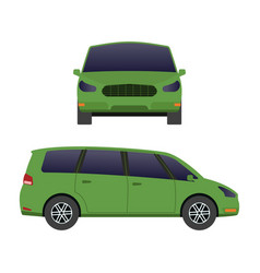 Car vehicle mini van transport type design travel vector