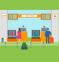 Cartoon airport check in vector
