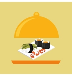 Catering fresh sushi design graphic vector