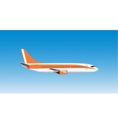 Civil aviation travel passenger air plane vector image vector image