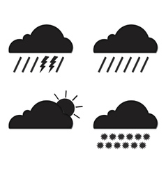 Clouds collection Weather icons set Web elements vector image