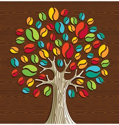 Coffee beans tree vector