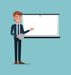 Color background executive man in work vector
