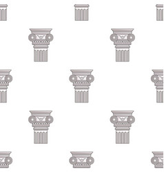 column icon in cartoon style isolated on white vector image vector image
