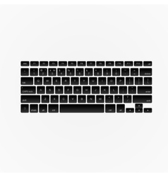 Computer keyboard isolated vector image