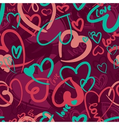 cute valentines seamless vector image vector image