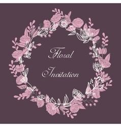 Design floral wreath vector image vector image