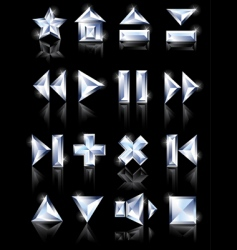 diamond icons vector image vector image
