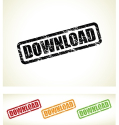 download stamp vector image vector image