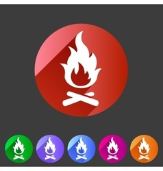 Fire icon flat web sign symbol logo label vector