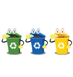 Funny recycling boxes vector