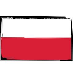 grunge poland flag or banner vector image vector image