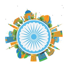 Happy indian republic day card vector