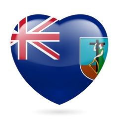 Heart icon of montserrat vector