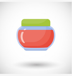 jam in jar flat icon vector image vector image