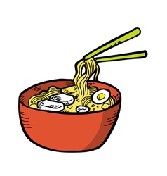 Japanese noodles vector