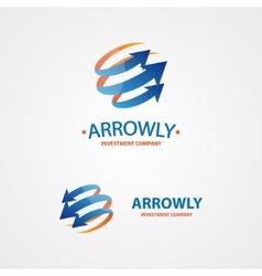 Logo design element arrow scope circle vector