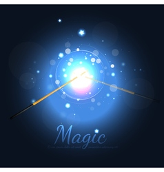 Magic Wands Battle With Stars vector image vector image