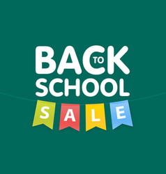 Modern back to school sale poster template with vector