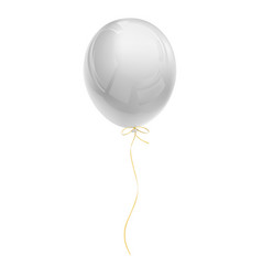 realistic white air balloon vector image vector image