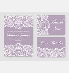 Set of wedding cards vector