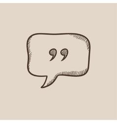 Speech bubble sketch icon vector image