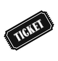 Vintage ticket simple icon vector