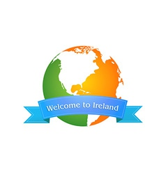Welcome to Ireland vector image