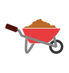wheelbarrow construction tool vector image