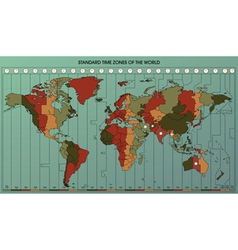world map time zones 2 vector image vector image