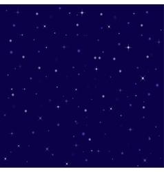 nice bright stars in the night sky vector image